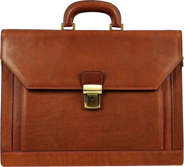 Color : Coffee Color Teerwere Mens Briefcase Business Briefcase Mens Handbag Casual Bag Mens Retro Crossbody Mens 3 Inch Briefcase Large-Capacity Handbag