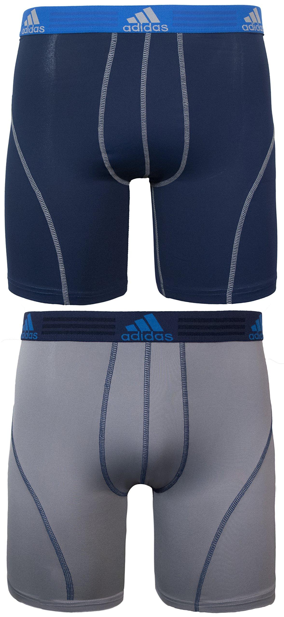 adidas Men's Sport Performance Midway Underwear (2-Pack), Night Indigo/Light Onix Light Onix/Night Indigo, LARGE by adidas