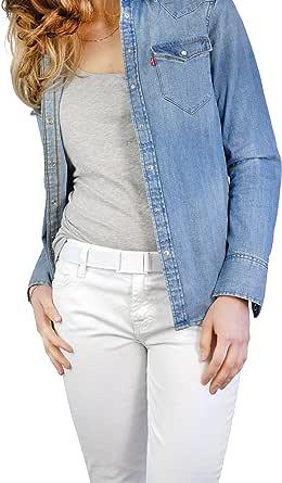 Beltaway Belt Square Buckle-Flat Belt (One Size) White