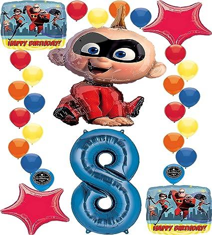 Amazon.com: The Incredibles - Globo de cumpleaños con 2 ...
