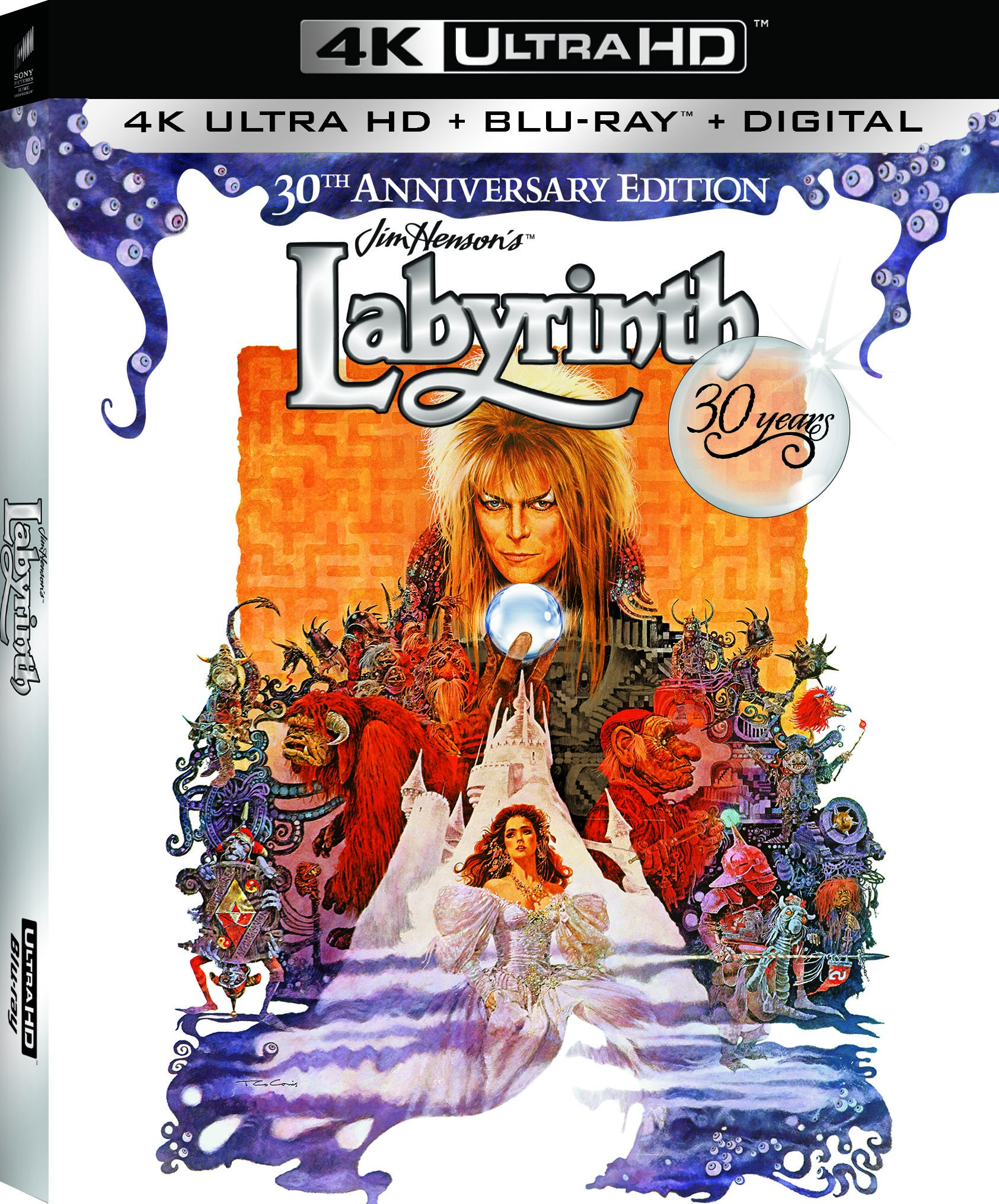 4K Blu-ray : Labyrinth (30th Anniversary Edition) (With Blu-Ray, Ultraviolet Digital Copy, Anniversary Edition, 2 Pack, Widescreen)