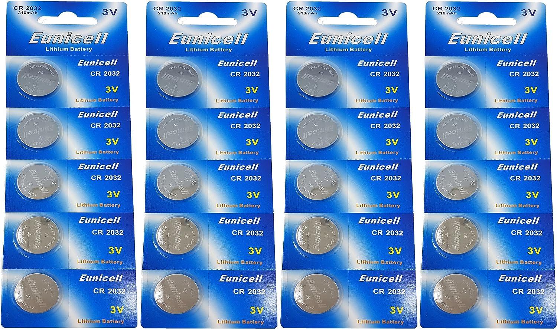 Eunicell 20 X Cr2032 3v Lithium Knopfzelle 210 Mah Elektronik