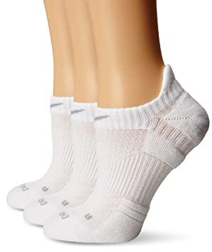 Nike Dri-Fit de la Mujer algodón Ligero No Show Tab Calcetines, 3-