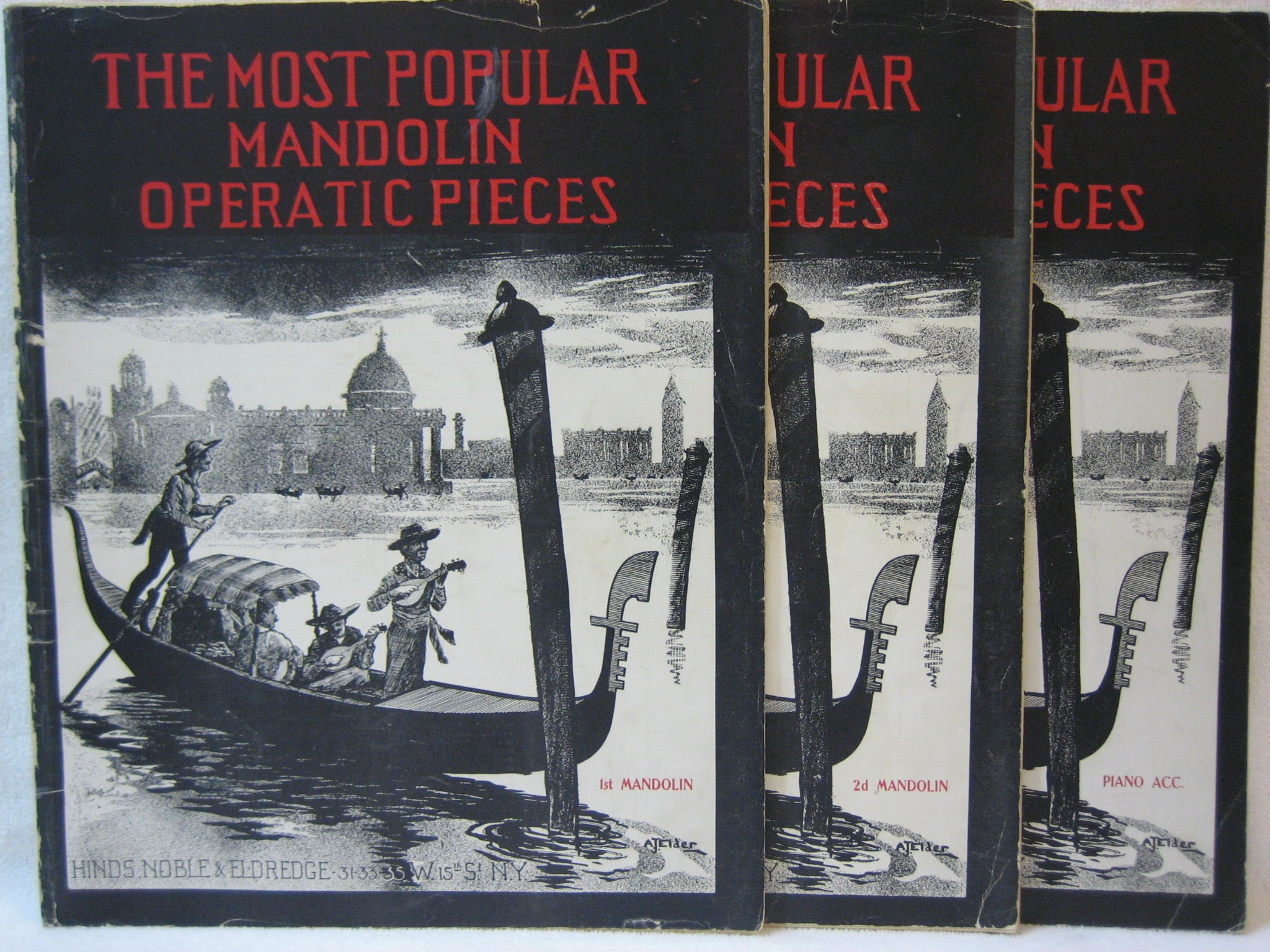 The Most Popular Mandolin Operatic Pieces - 1st & 2nd Mandolin and Piano Accompaniment