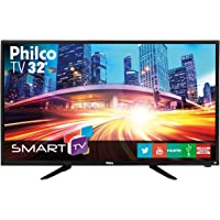 "Smart TV LED 32"" Philco PH32B51DSGWA HD com Conversor Digital 2 HDMI 2 USB Wi-Fi Android - Preta"