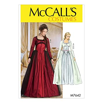 McCall\'s Patterns 7642 A5 Schnittmuster Kostüm, mehrfarbig: Amazon ...