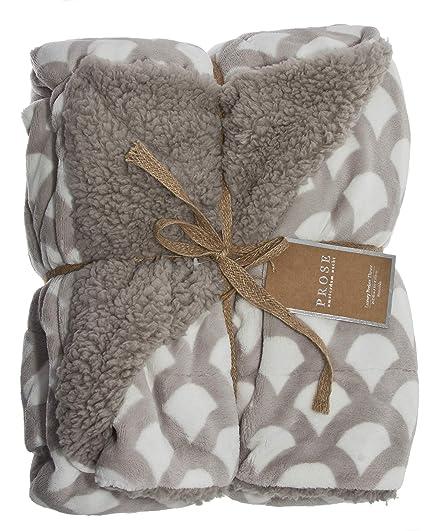 572a56957e Amazon.com  ReLive Reversible 50x60 Inch Soft Velvet Luxury Berber ...