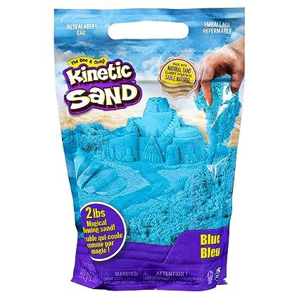 ae7396be1e Amazon.com: Kinetic Sand The Original Moldable Sensory Play Sand, Blue, 2  Pounds: Toys & Games