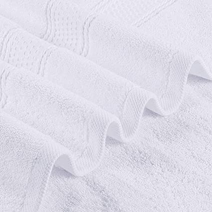 Lot de 8 la salle de sport et le spa blanc le visage Essuie-mains les mains Towelogy/® Lot de serviettes de toilette 100 /% coton /égyptien 500 g//m/² ultra douces et absorbantes pour le bain