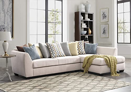 Acanva Luxury Contemporary Chenille Sofa Set L-Shape 2-Piece Living Room Couch