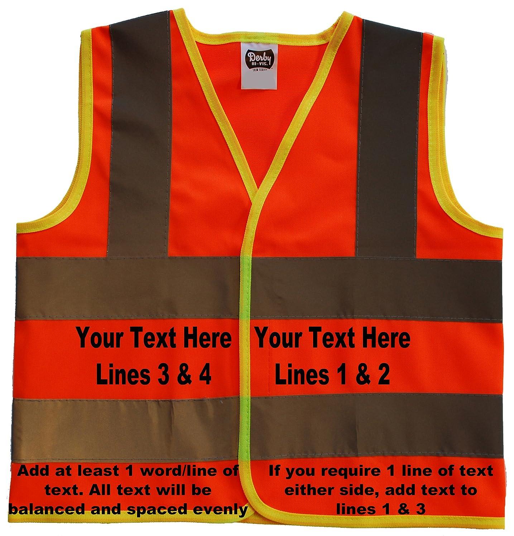 Grandads Little Helper Baby//Children//Kids Hi Vis Safety Jacket//Vest Sizes 0 to 8 Years Optional Personalised On Front