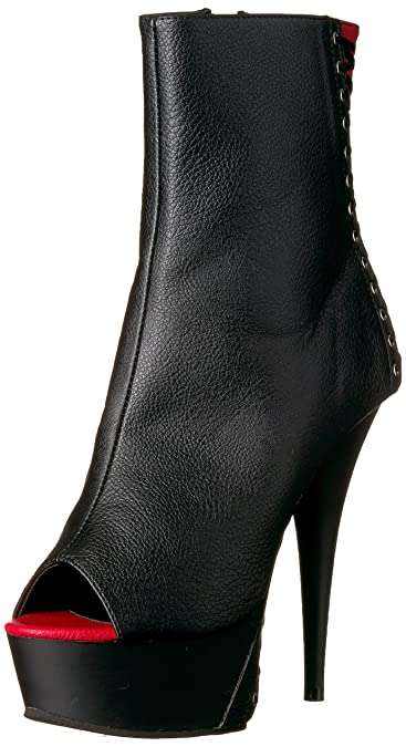 Pleaser Delight 1025 Open-Toe Bootie (Women's) KuJQwb
