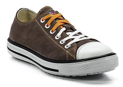 outlet store bdafd 5e5a8 FTG Sicherheitsschuhe Music Afro Low S1P SRC, Sicherheitsschuh Sneaker braun