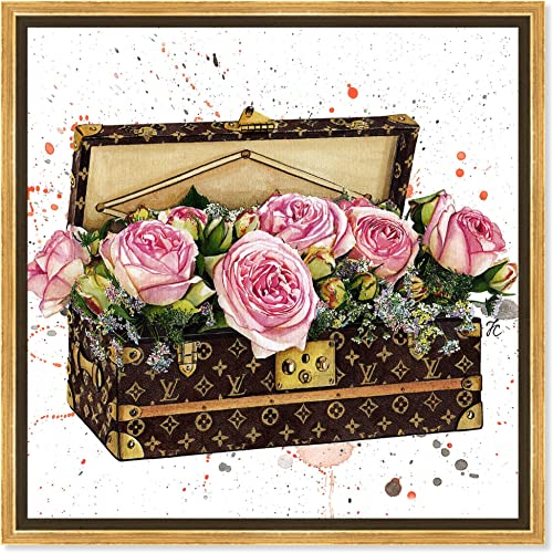 The Oliver Gal Artist Co. Fashion and Glam Framed Wall Art Canvas Prints 'Doll Memorie
