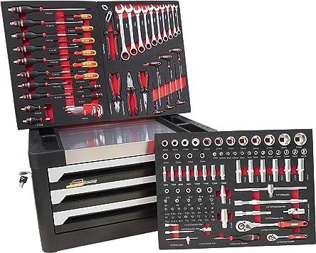 DeTec - Caja de herramientas con 3 cajones, llena con herramientas ...