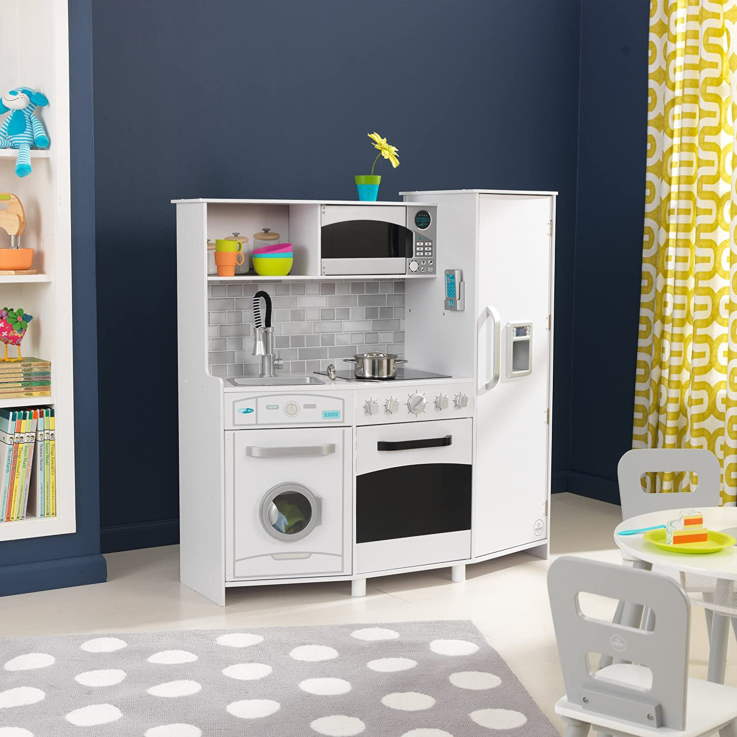 kidkraft kids kitchens playset white black toys games