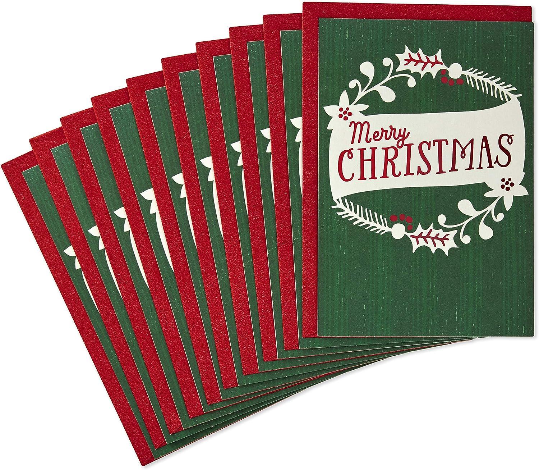 Envelopes 12 Pk Wreath Glitter Hallmark Christmas Cards Gift Card Money Holder