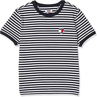 Tommy Hilfiger Women's TJW Stripe Heart Knit Tops