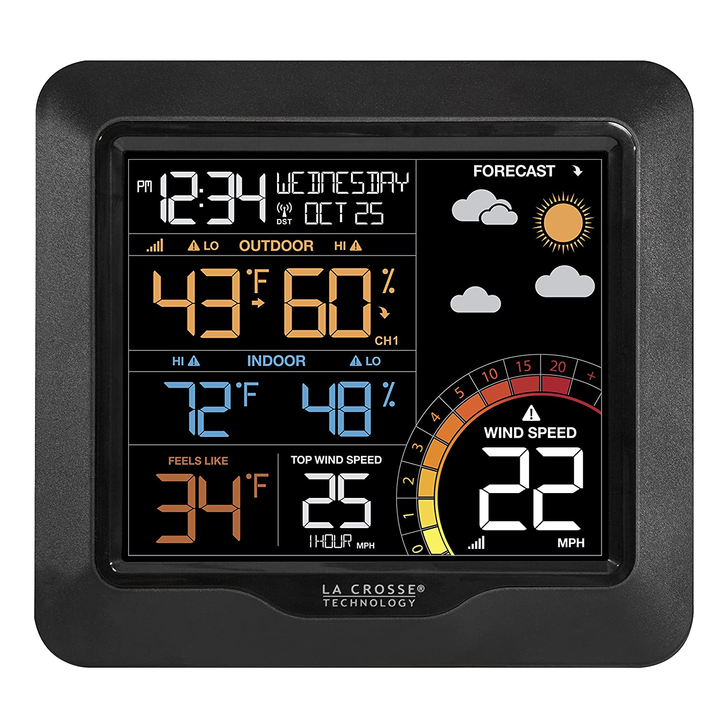La Crosse Technology 327-1417 Color Wind Speed Weather Station