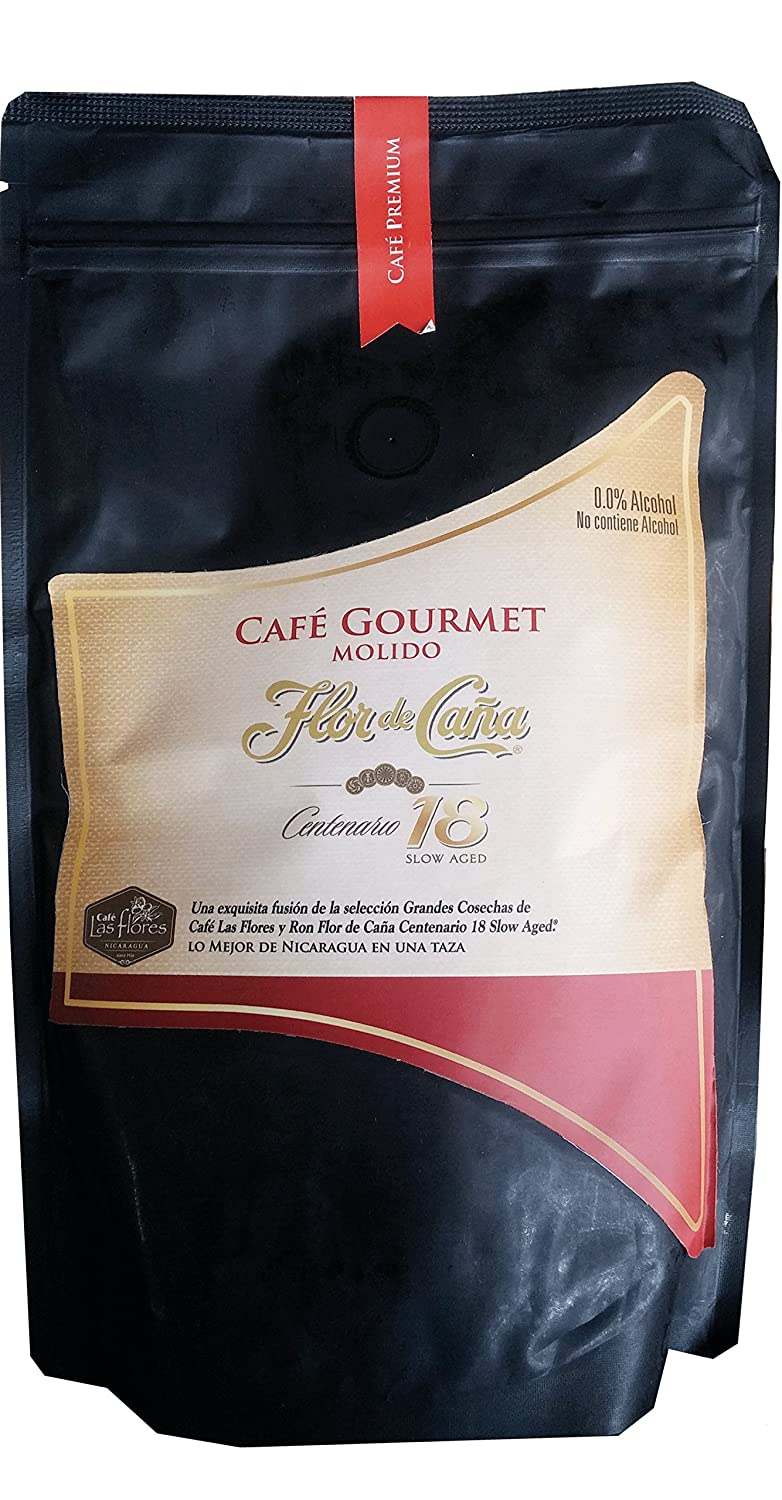 Amazon.com : Flor De Caña Gourmet Coffee Flavored with Rum 18yrs (Premium Ground Coffee) : Grocery & Gourmet Food