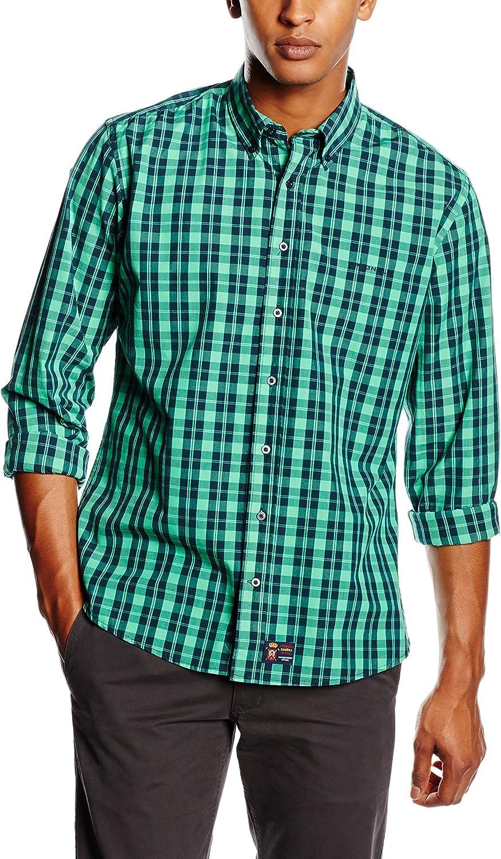 Spagnolo Camisa Hombre Verde 2XL (06): Amazon.es: Ropa y ...