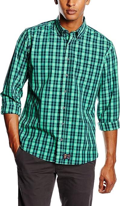 Spagnolo Camisa Hombre Verde 2XL (06): Amazon.es: Ropa y accesorios
