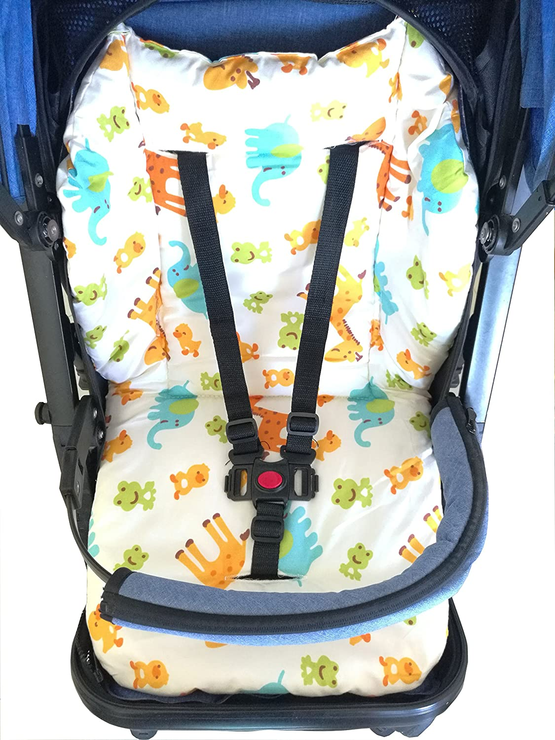 Animal Pattern Ancho Baby Stroller//Highchair//Car Seat Cushion Protective Film Breathable Pad High Chair Pad