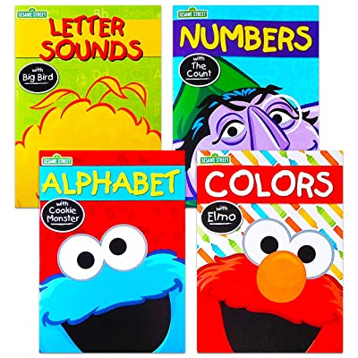 Set of 4 Sesame Street Workbooks (Alphabet, Letter Sounds, Colors, & Numbers): Toys & Games
