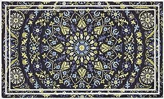 product image for Apache Mills Fashionables Deluxe BLEW Harold Medallions Dark Navy Door Mat, 18-Inch X 30-Inch