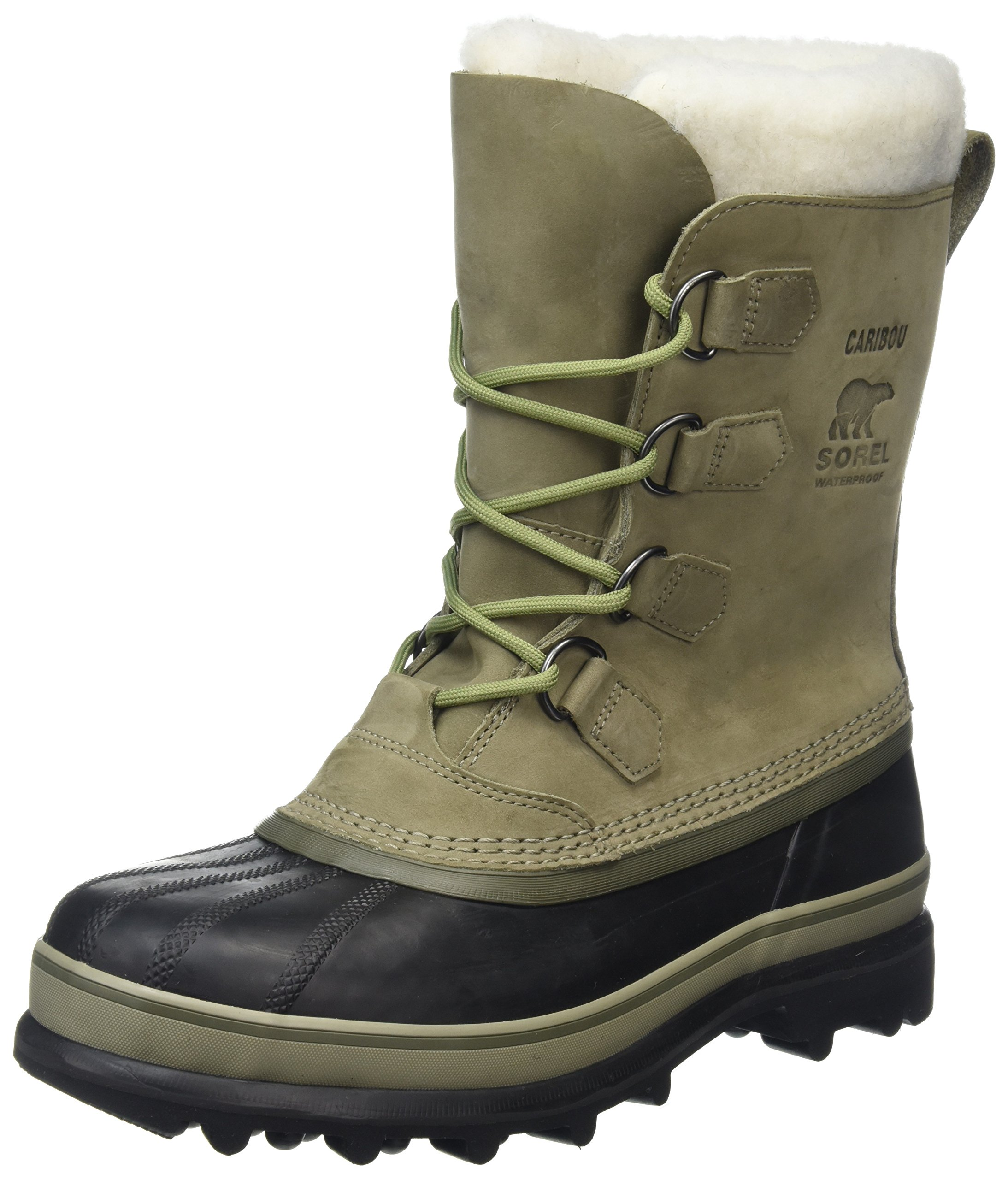 Men's Sorel Caribou Waterproof Boot Sage/Black Size 11 M US