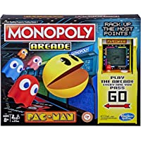 MONOPOLY - Arcade Pac-Man Board Game - Relive the 80's - Includes Electronic Banking & Arcade Unit - 2 to 4 Players…
