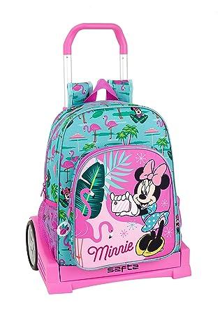 """Minnie Mouse """"Palms"""" Oficial Mochila Espalda Ergonómica Con Carro Safta Evolution"""
