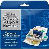ウィンザー&ニュートン 水彩絵具 ウィンザー&ニュートン コットマン ウォーターカラー 12色セット フィールド PLUSセット ハーフパン
