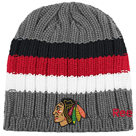 8f7bf6433c3 Image Unavailable. Image not available for. Color  Chicago Blackhawks Men s Knit  Beanie Reebok Face-Off