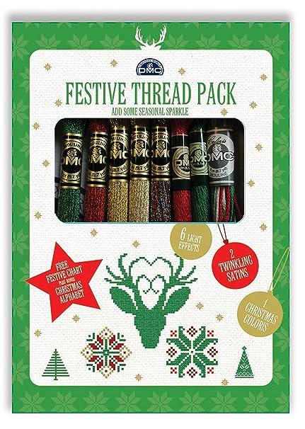 Dmc Kit Festive Thread Pack 9 Matassine Da 8 M In Colori