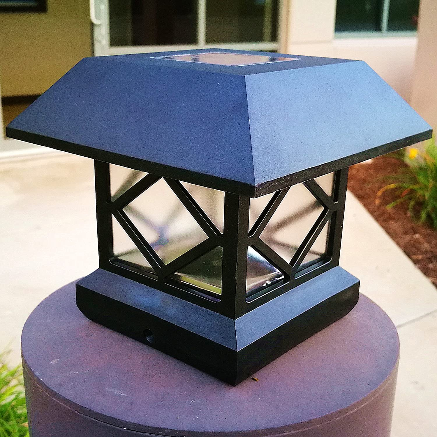 Amazon.com : Solar Light, Post Cap Lights 4 X 4 Plus Bright 15 Lumen Outdoor  Warm White LED Lamp For Vinyl Posts Caps 3.5x3.5 4x4 5x5 6x6 Waterproof  Deal Of ...