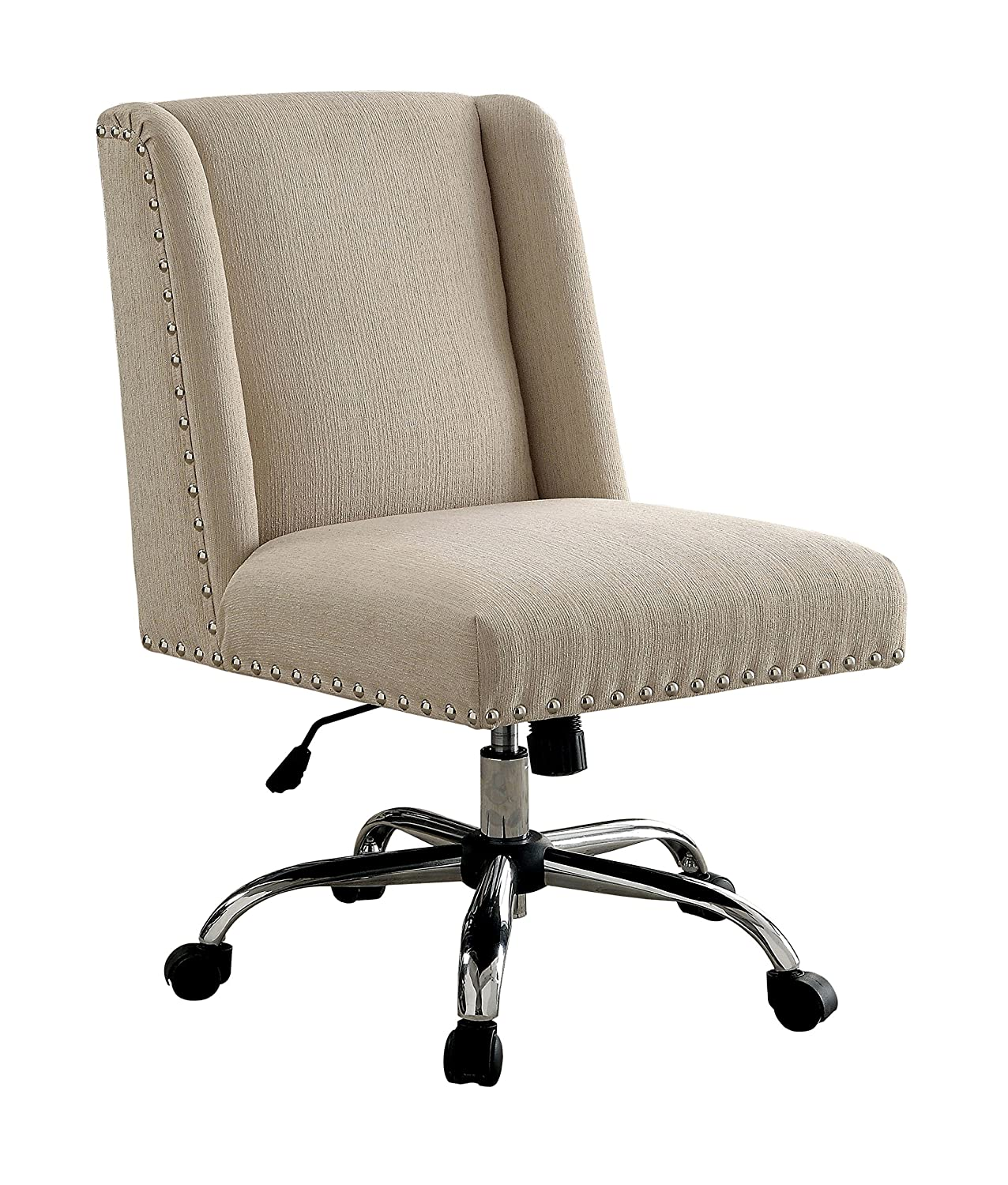 Ivory Wingback Office Chair