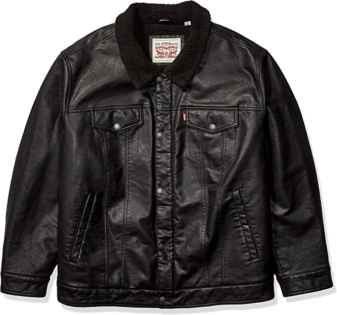 Details about Levis Womens Sherpa Lining Trucker Jacket Black All Sizes show original title