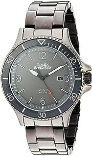 5b24945a38ce Amazon.com  Timex Men s TW2P61600 Fieldstone Way Black Stainless ...