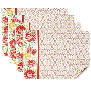 The Pioneer Woman Vintage Floral Geo Placemat, Pack of 4