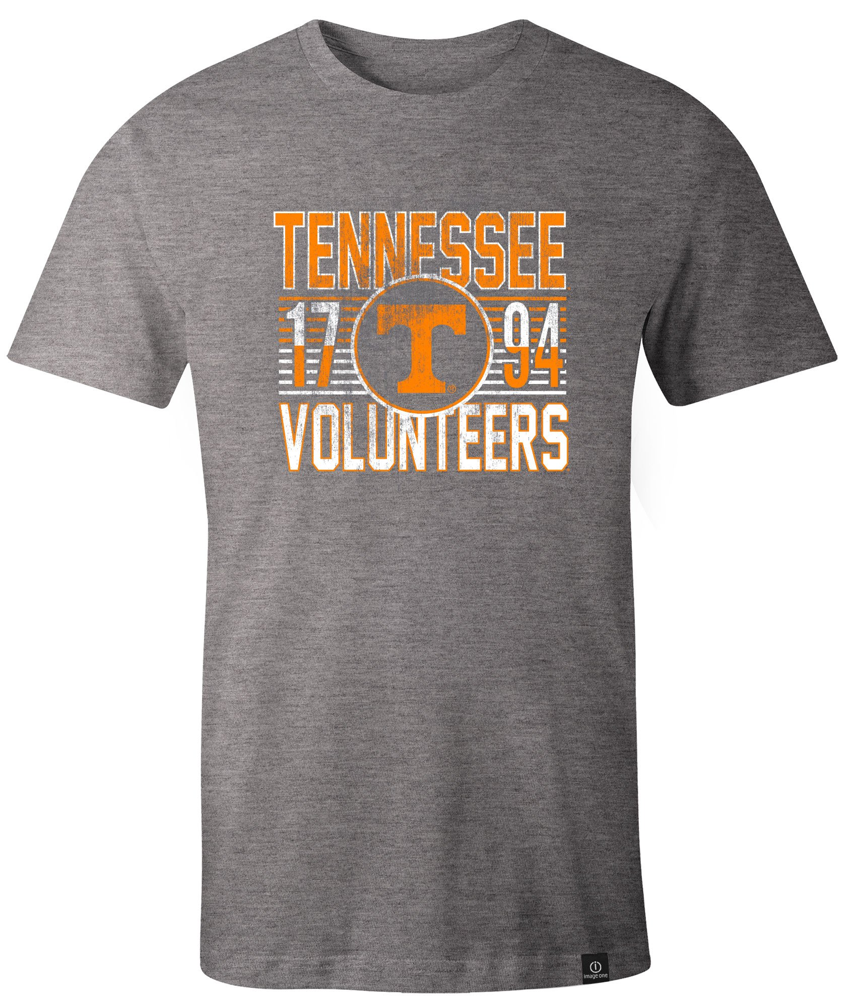 Tennessee Volunteers Adult Retro Stacked Image One Everyday Short Sleeve T Shirt X Heathe