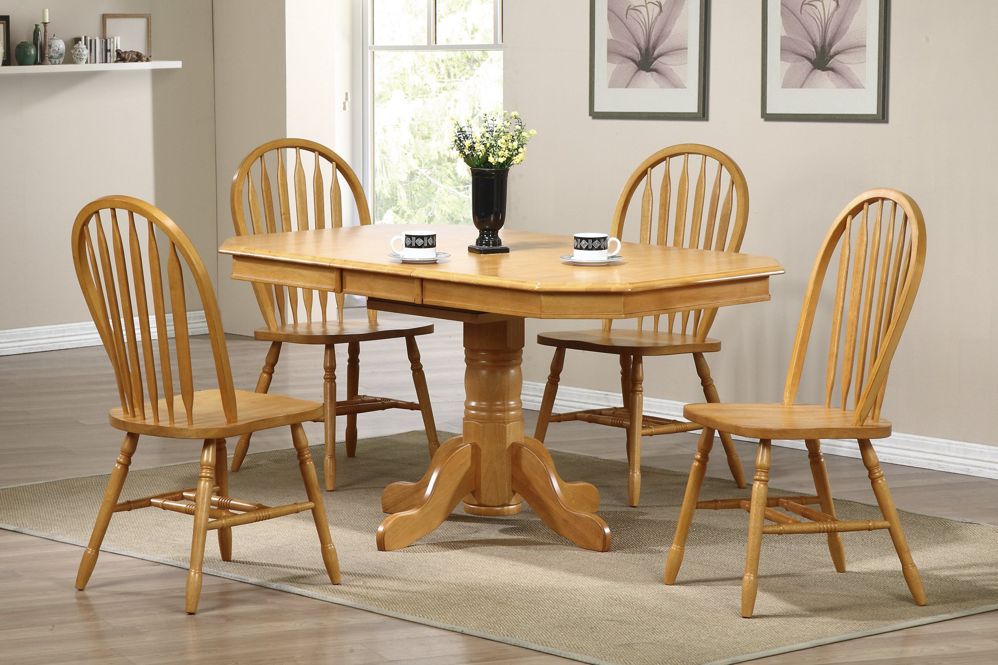 Sunset Trading Arrowback Dining Chair, Set of 2, 38'', Light Oak by Sunset Trading (Image #5)