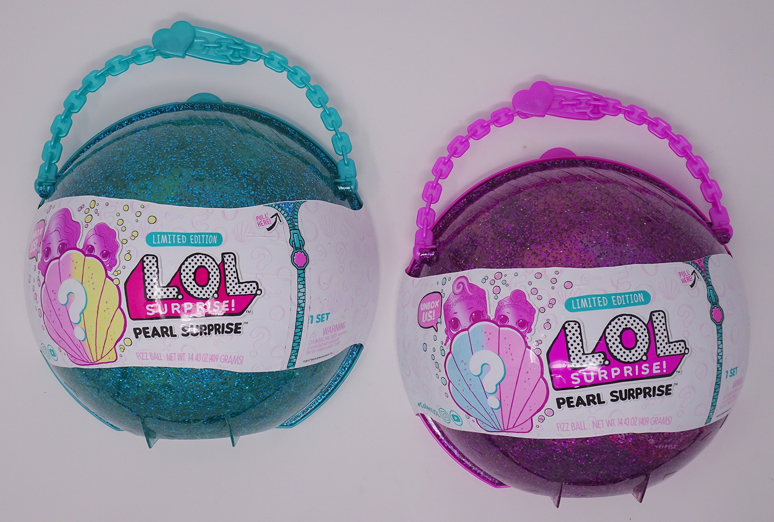 Bundle of LOL Surprise! Pearl Surprise Turquise and Purple Styles