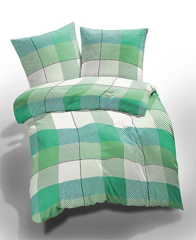 20b4035f65f etérea Microfibre Bed Linen Lola Checked Chequered Green White, Microfibre,  green, 135 x 200 cm: Amazon.co.uk: Kitchen & Home