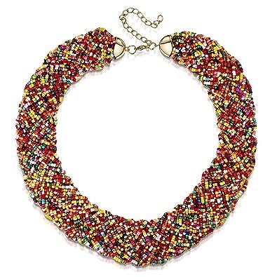 8f25427cfb72 Indi - Collar de cuentas multicolor para mujer