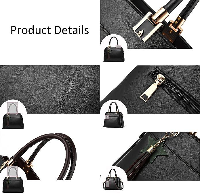 Nevenka Top Handle Handbags for Women Three Internal Layering Shoulder Bags Large Tote Satchel L, Orange
