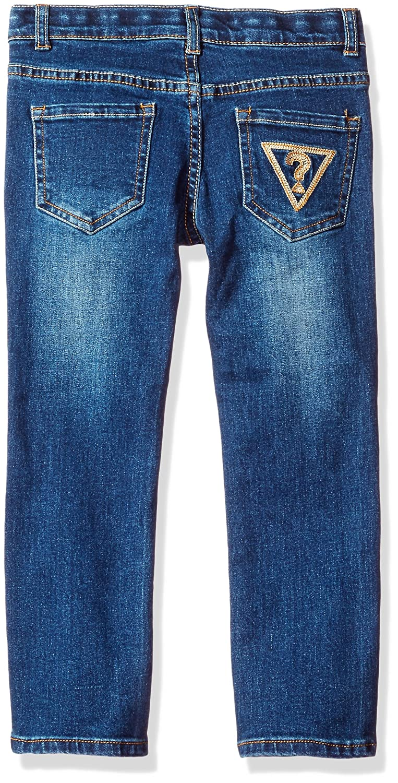 7954095656 Amazon.com: GUESS Boys' Little Boys' 5 Pocket Distressed Wash Jeans, Dark  Blue, 5: Clothing