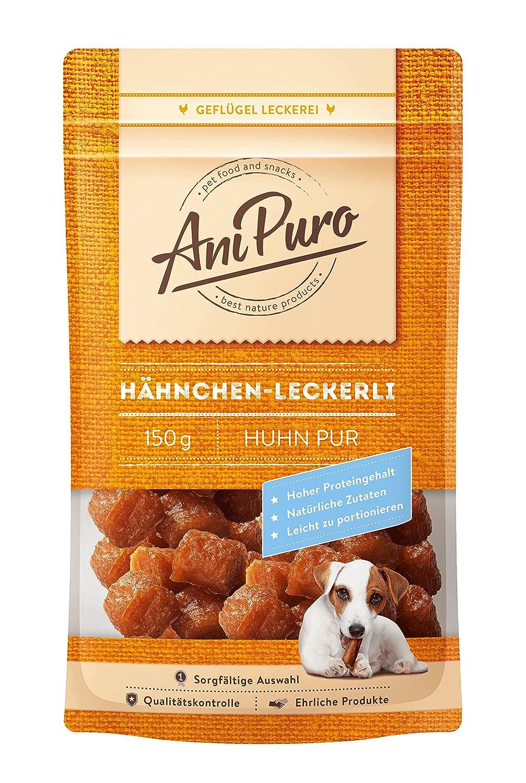 AniPuro Hähnchen-Leckerli getrocknet, 150 g - Hähnchenfleisch für ...