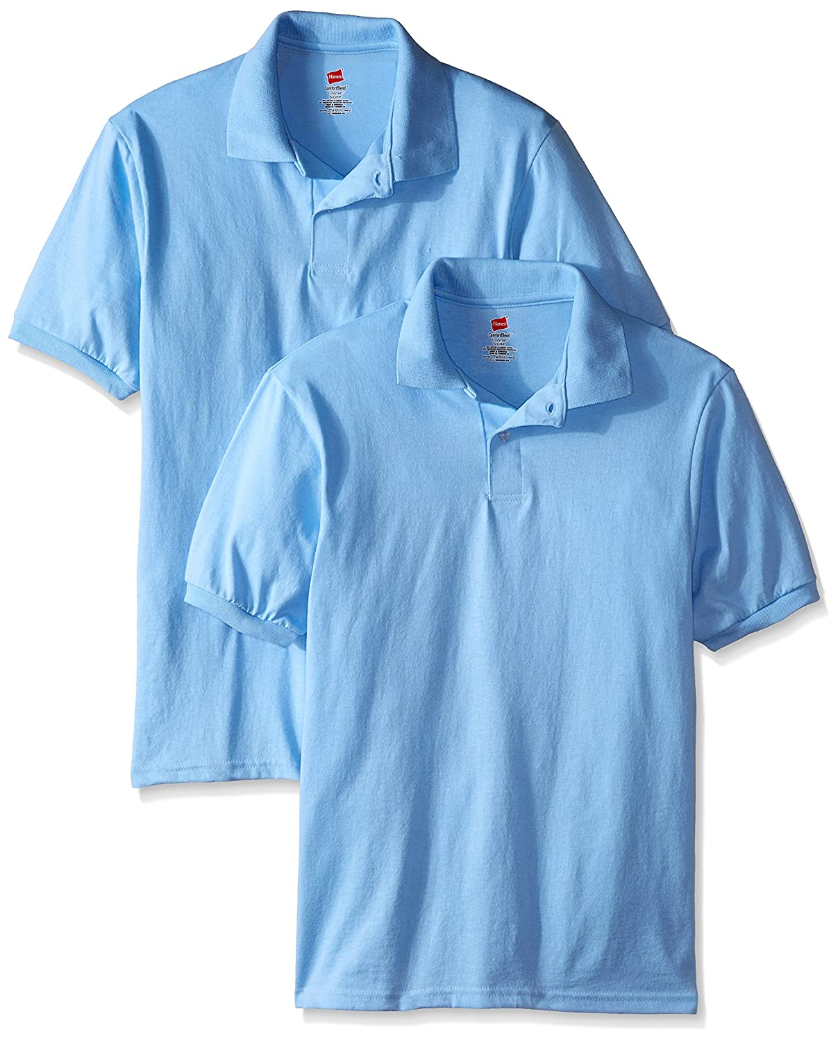 Hanes Men's Short Sleeve Jersey Polo (Pack of 2) O054X