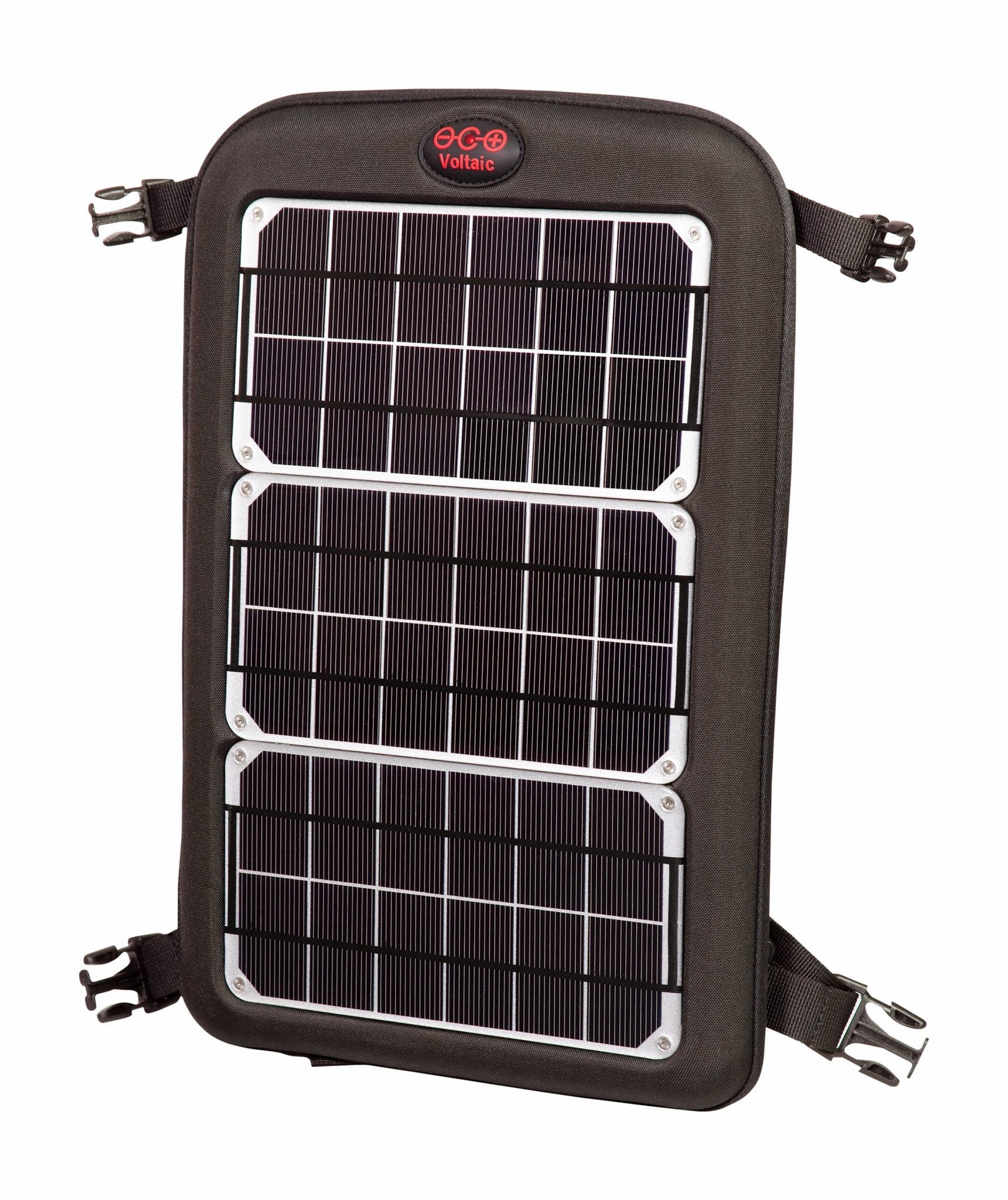 Voltaic Systems - Fuse 10 Watt USB Solar Laptop Charger with Backup Battery Pack - Silver | Powers Laptops, Phones, & More | Solar Charge your Laptop Anywhere
